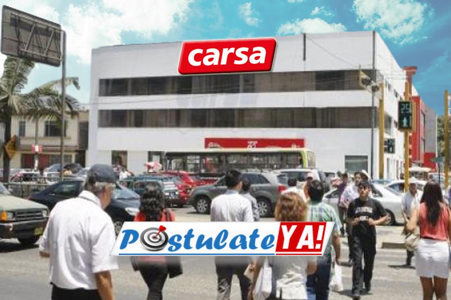 Carsa Tiene Ofertas de empleo en Perú